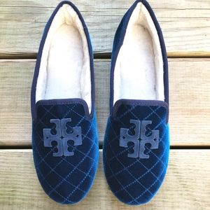 TORY BURCH Billy 2 Velvet Grosgrain Loafer Slipper